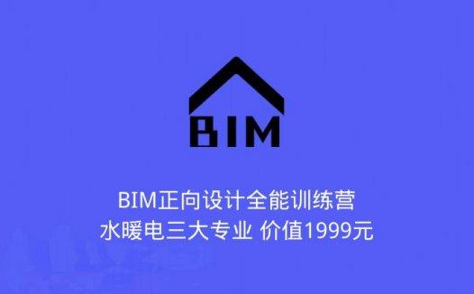BIM正向设计全能训练营-水暖电三大专业 价值1999元(2020/5/11)