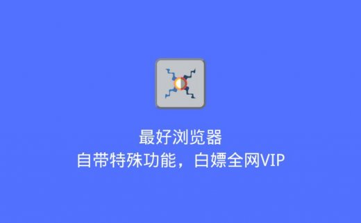 最好浏览器:自带特殊功能,白嫖全网VIP