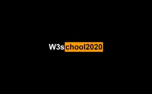 《W3school2020-04-19离线手册》最新中文chm格式