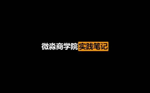 微淼商学院实践笔记:2020最新版24周最新实践笔记 164文档(2020/10/18)