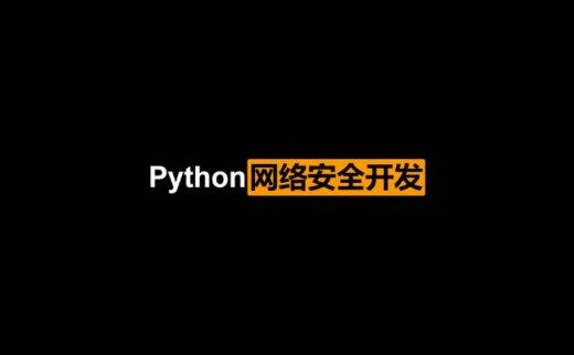 Python网络安全开发(2020/11/14)