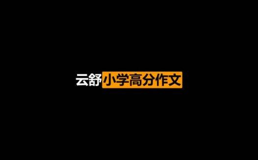 云舒写小学高分作文必会成语课完结版(2021/2/14)