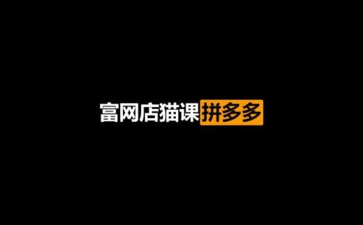 富网店猫课拼多多VIP教程(2021/2/7)